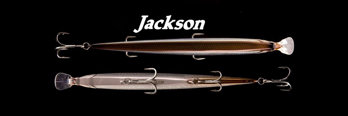 JACKSON crée et fabrique des leurres haut de gamme au Japon depuis 1980. Pas n'importe quels leurres, des leurres d'exception dotés d'un don : celui de prendre du poisson là où d'autres n'en prennent pas. Peut-être ont-ils ce don parce que JACKSON possède une capacité à créer à contre courant des leurres silencieux quand la mode est aux leurres à billes, à créer des leurres extra coulants quand la demande porte sur des leurres flottants ou suspending, à créer aussi des formes et des coloris inédits. Les leurres JACKSON sont fabriqués à la main au Japon dans l'usine de Shizuoka, les peintures sont réalisées à l'aérographe. La vidéo ci-dessous parle d'elle même.