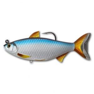 crankys swimbait leurre souple armé golden shiner live target pêche fishing