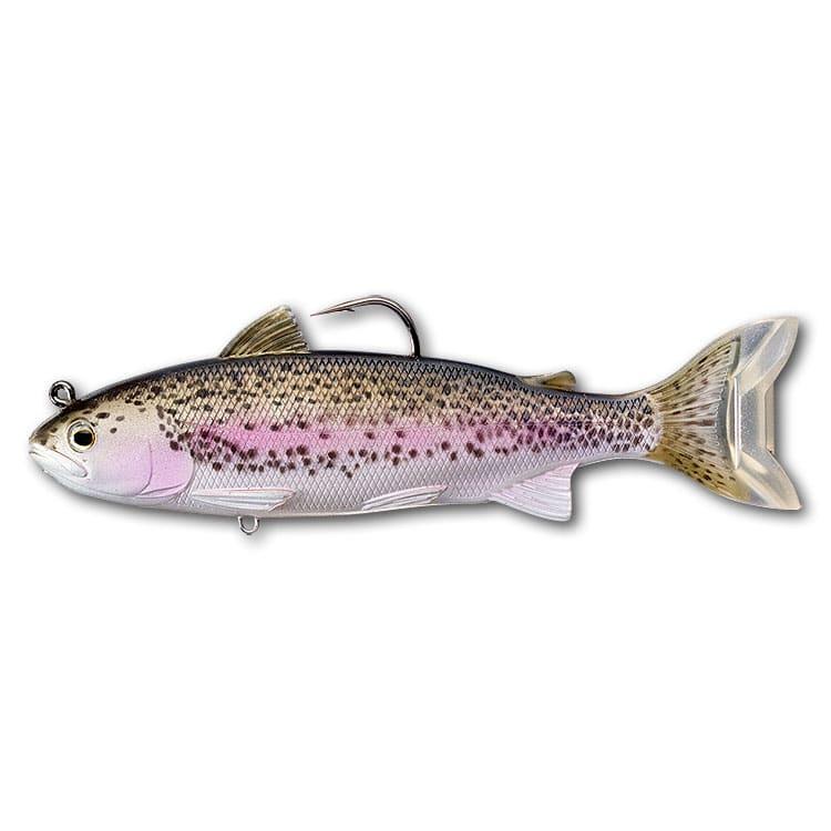 crankys leurre souple armé swimbait trout live target pêche fishing