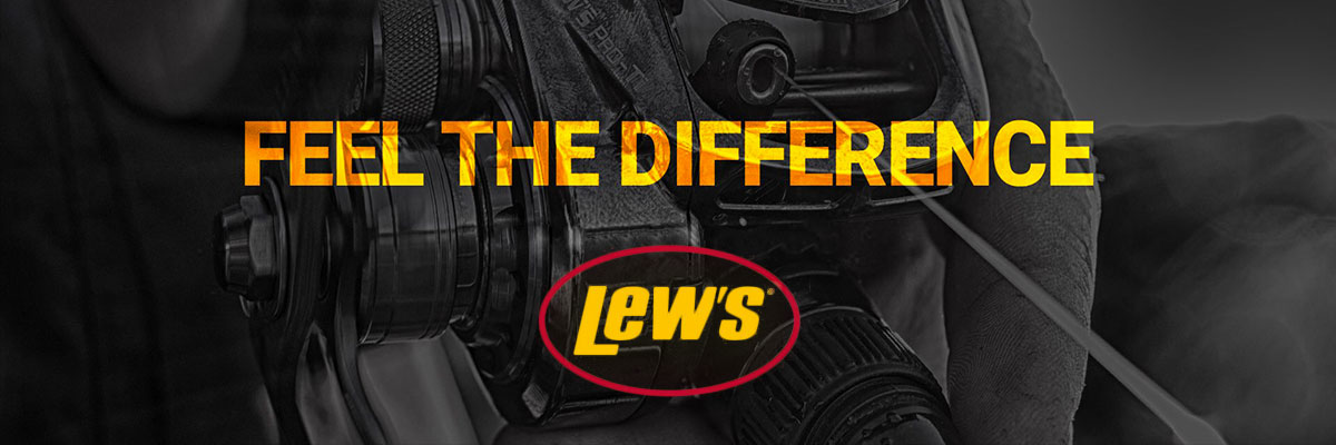 bannière marque Lew's pêche aux leurres