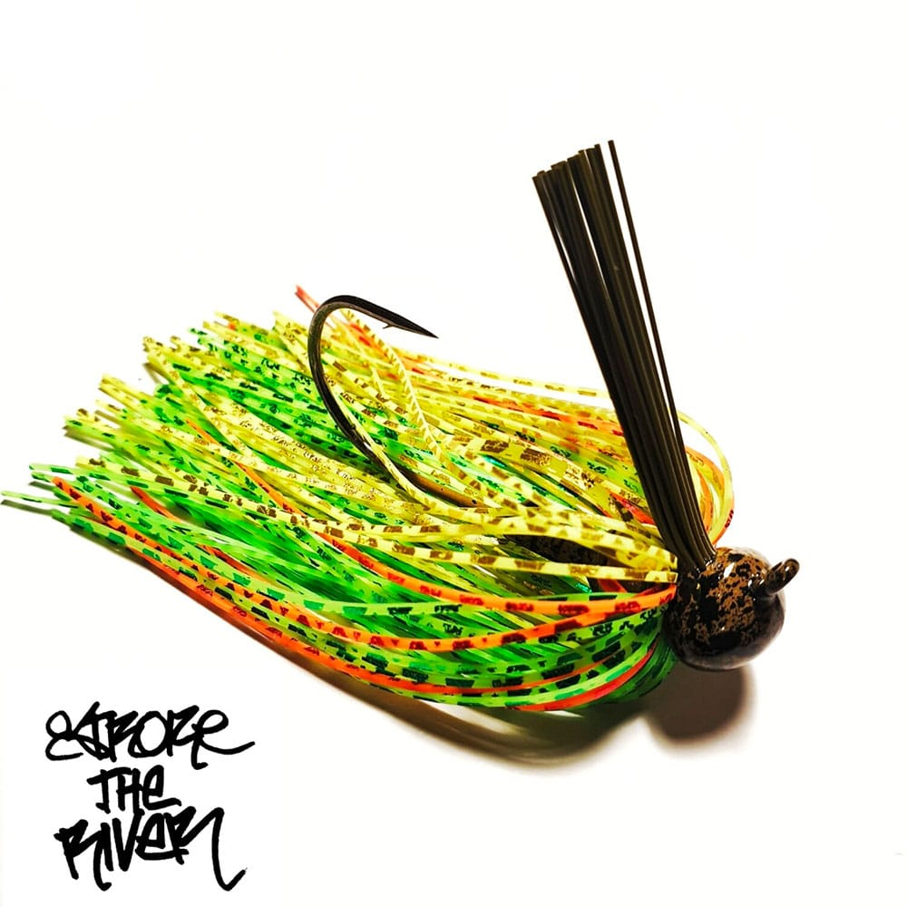 crankys-rubber-jig-fire-tiger-stroke-the-river
