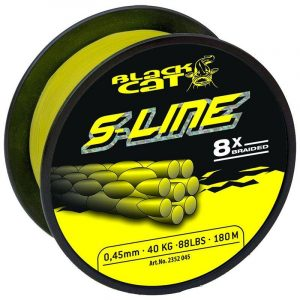 crankys tresse silure s-line black cat pêche fishing