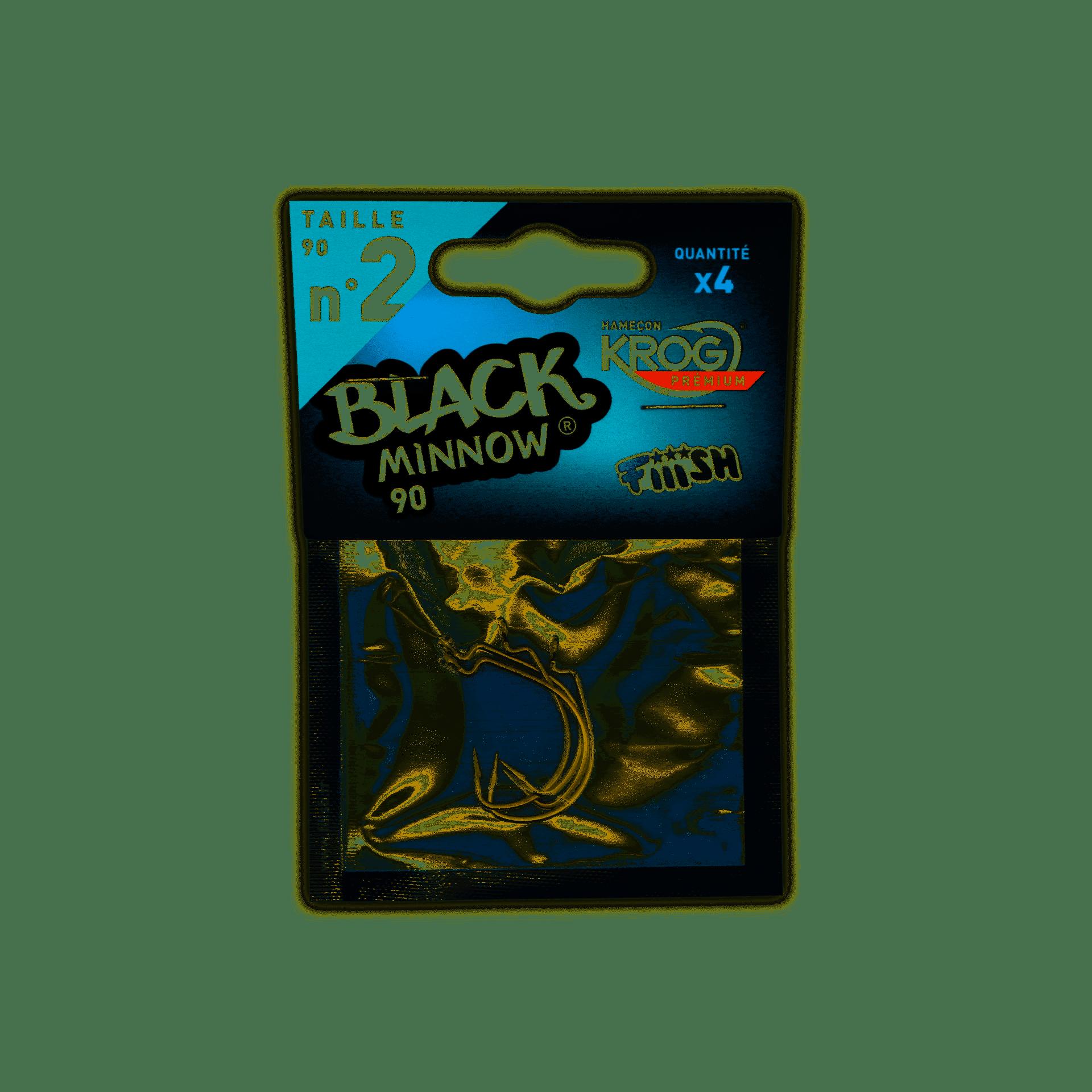 crankys hameçon krog black minnow 90 fiiish pêche fishing